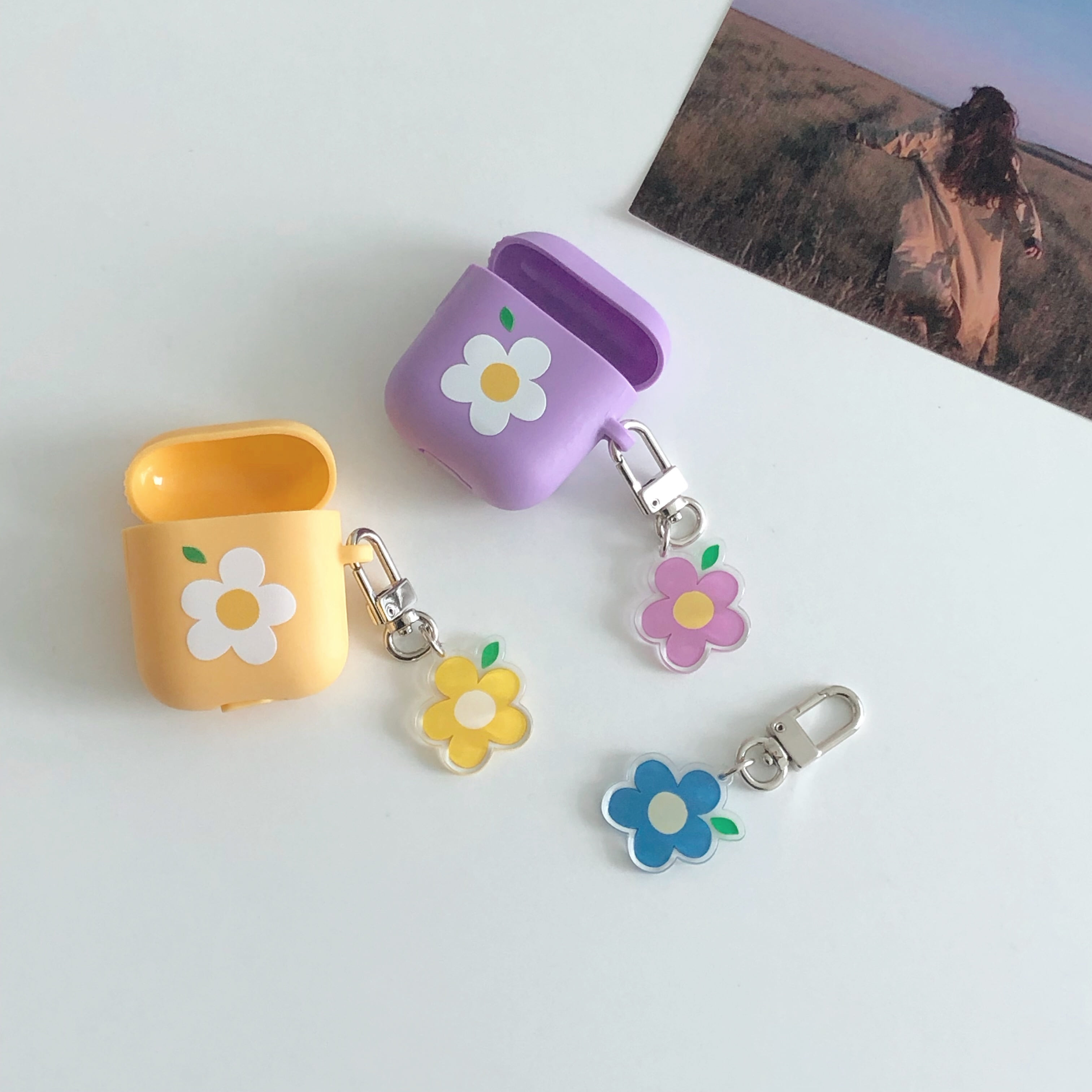 Love flower key ring (아크릴)