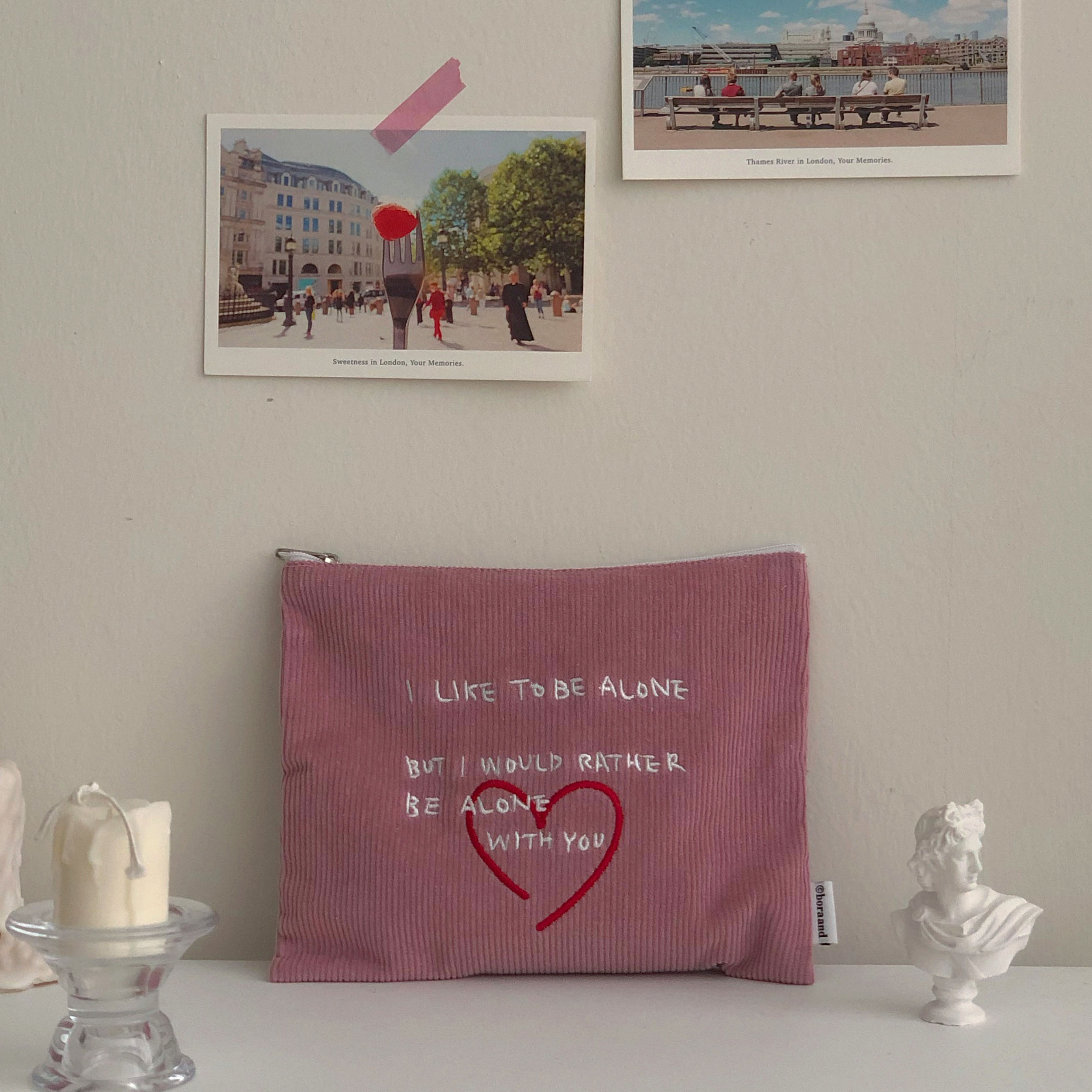 Heart pouch (pink) (2차 재입고)