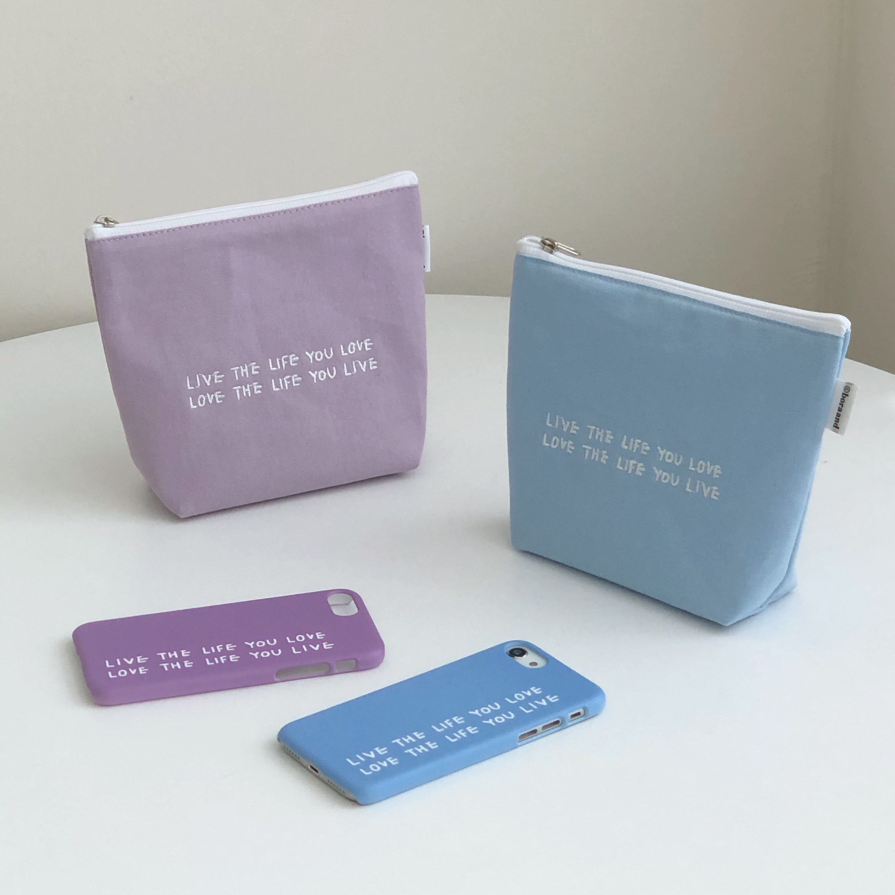 Live the life you love pouch (2차 재입고)