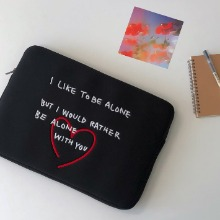 Heart laptop pouch